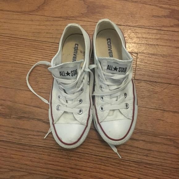 df165a22dfe4 Converse Shoes - White Converse low tops - Size 6 (women s)